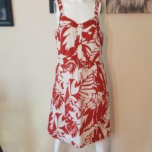 NWT BASS💟Henna Palms Drawstring Midi Tank Dress